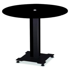 메탈릭 블랙 원형 탁자 / KER1000BB6