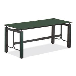 메탈릭 그린 유리 회의용 탁자 KEC