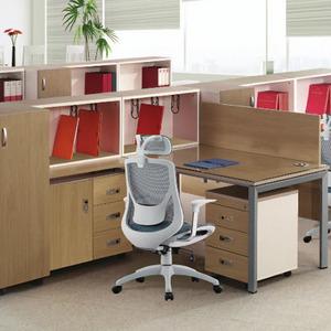 [EF] 라이트 월넛 책상 기본형 (투명유리)